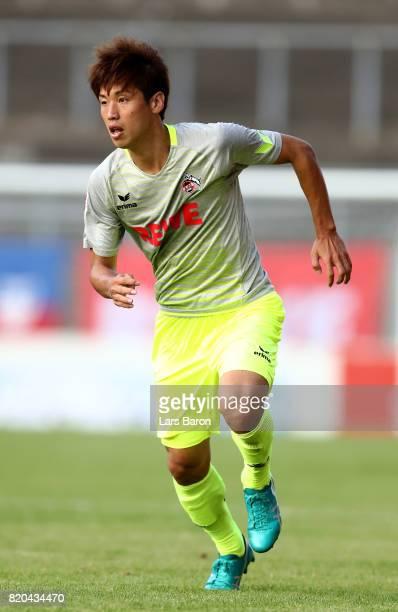 Yuya Osako of Koeln runs during the preseason friendly match between KFC Uerdingen and 1 FC Koeln at on July 21 2017 in Krefeld Germany