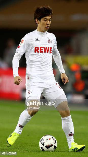 Yuya Osako of Koeln runs with the ball during the Bundesliga match between 1 FC Koeln and TSG 1899 Hoffenheim at RheinEnergieStadion on April 21 2017...