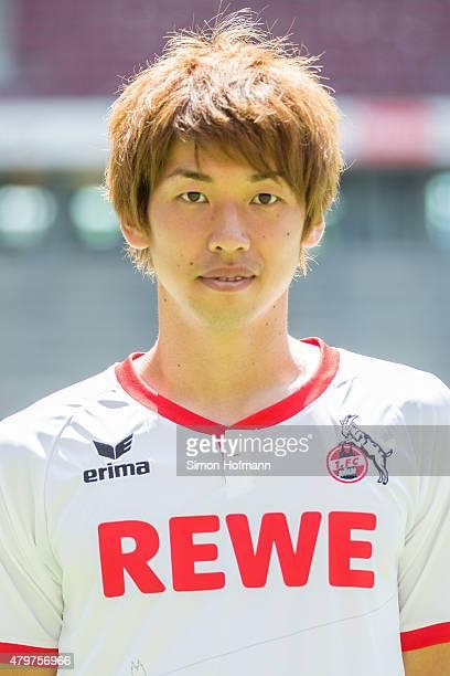 Yuya Osako poses during 1 FC Koeln Team Presentation at RheinEnergieStadion on July 6 2015 in Cologne Germany