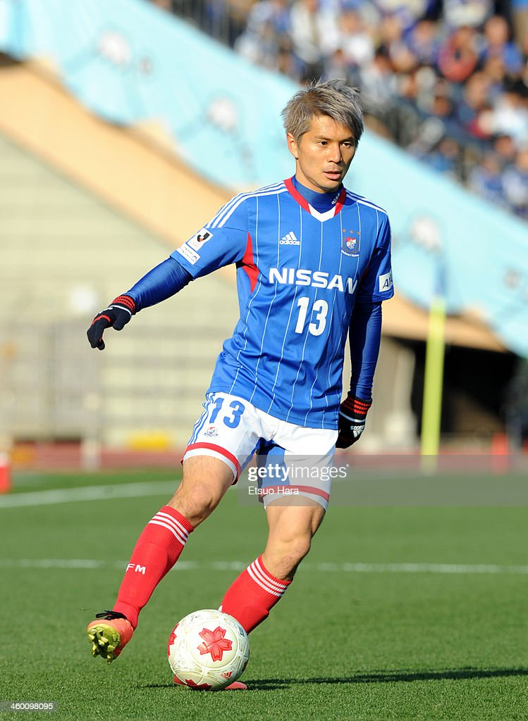 Yuzo Kobayashi of Yokohama F.Marinos in action during the 93rd Emperor's Cup final between Yokohama F.Marinos and Sanfrecce Hiroshima at the National Stadium on January 1, 2014 in Tokyo, Japan.