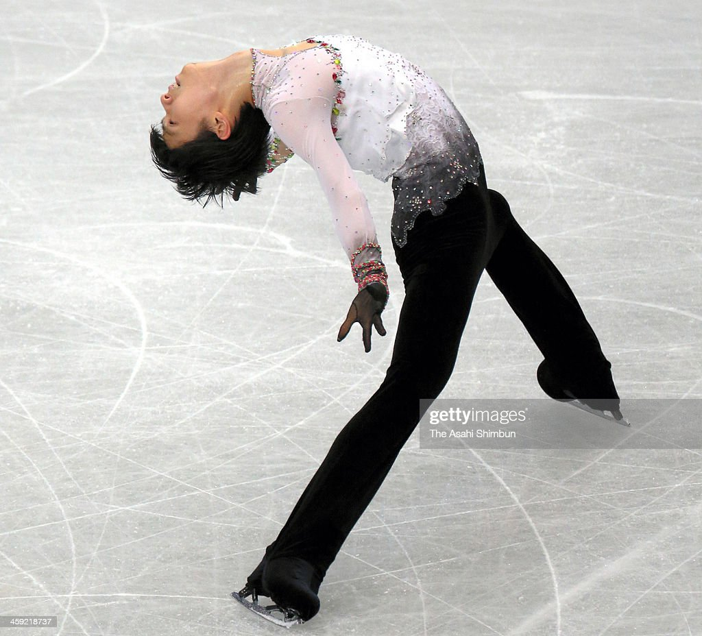 Yuzuru Hanyu competes in the Men's Singles Free Program during the 82nd All Japan Figure Skating Championships at Saitama Super Arena on December 22, 2013 in Saitama, Japan.