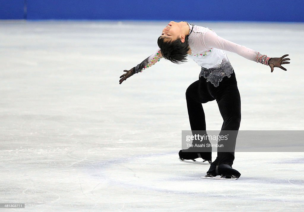 Yuzuru Hanyu of Japan competes in the Men's Singles Free Program during day three of the ISU World Figure Skating Championships at Saitama Super Arena on March 28, 2014 in Saitama, Japan.