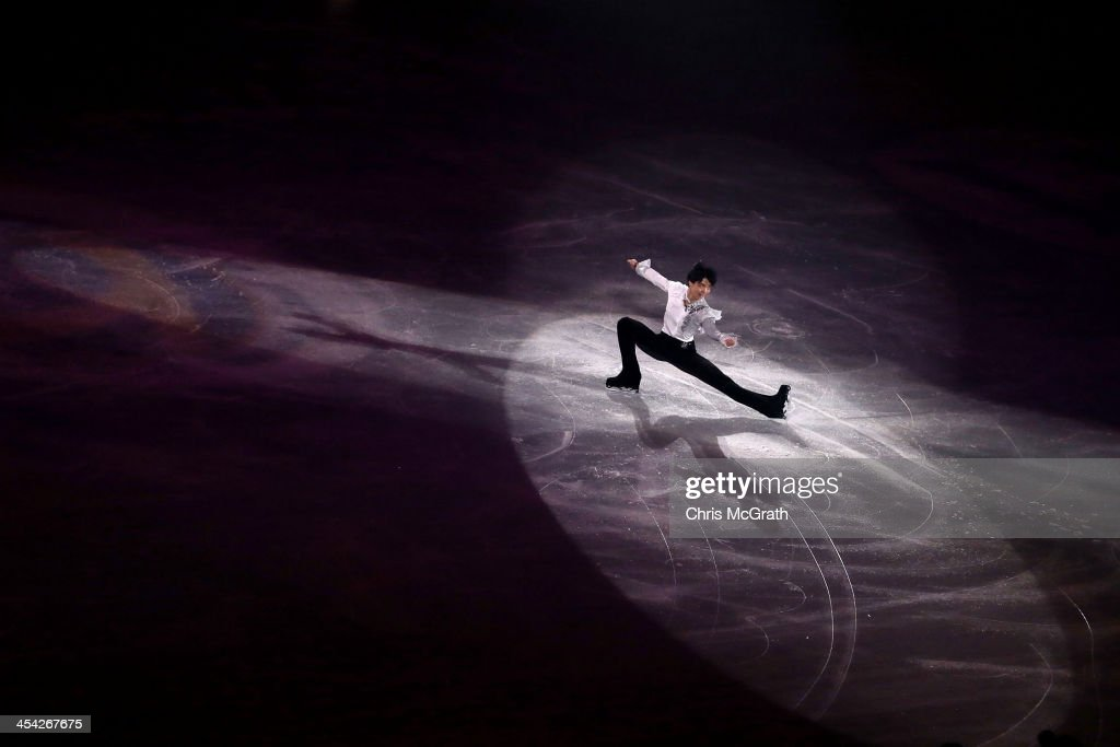 Yuzuru Hanyu of Japan performs his routine in the ISU Gala during day four of the ISU Grand Prix of Figure Skating Final 2013/2014 at Marine Messe Fukuoka on December 8, 2013 in Fukuoka, Japan.