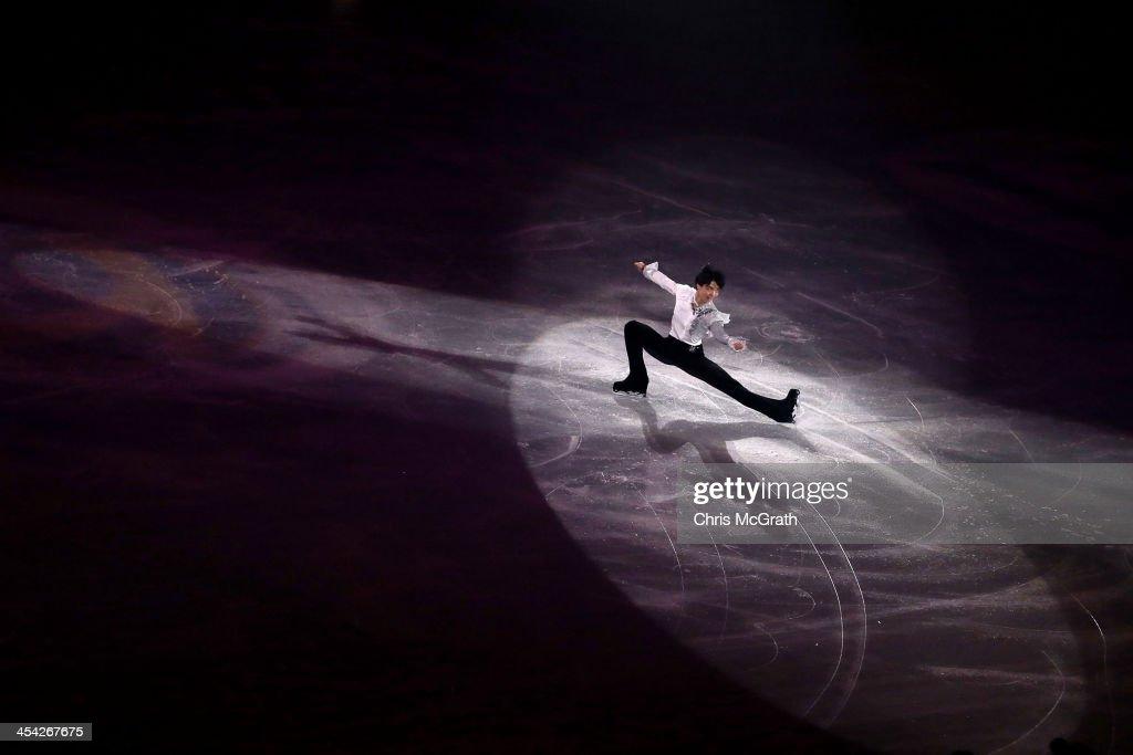 Yuzuru Hanyu of Japan performs his routine in the ISU Gala during day four of the ISU Grand Prix of Figure Skating Final 2013/2014 at Marine Messe Fukuoka on December 8, 2013 in Fukuoka, Japan.