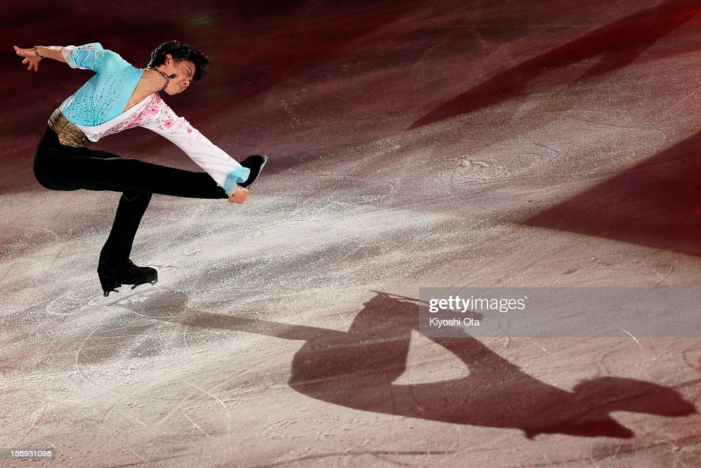 Yuzuru Hanyu of Japan performs in the Gala Exhibition during day three of the ISU Grand Prix of Figure Skating NHK Trophy at Sekisui Heim Super Arena on November 25, 2012 in Rifu, Japan.