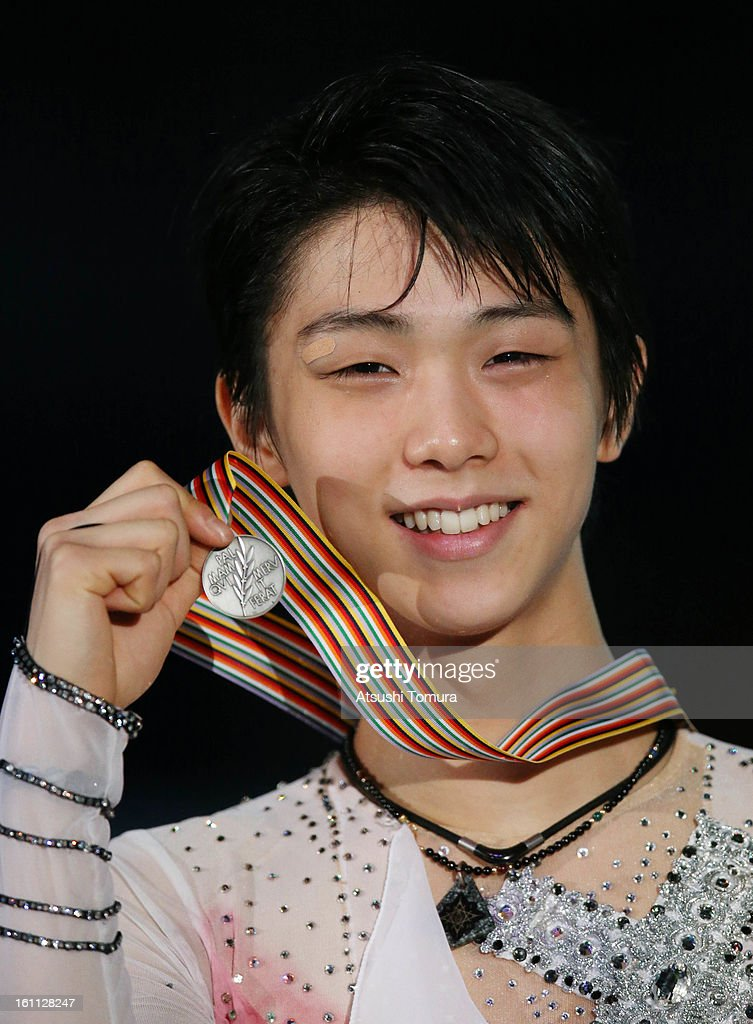 Yuzuru Hanyu of Japan poses in the Men's Free Skating during day two of the ISU Four Continents Figure Skating Championships at Osaka Municipal Central Gymnasium on February 9, 2013 in Osaka, Japan.