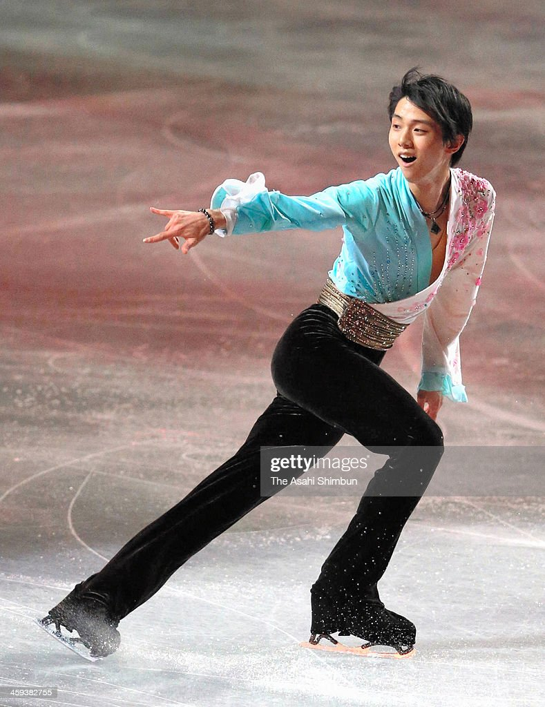 Yuzuru Hanyu performs in the gala exhibition during day four of the 82nd All Japan Figure Skating Championships at Saitama Super Arena on December 24, 2013 in Saitama, Japan.