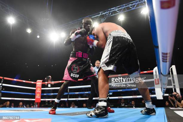 Yvan Mendy against Joseph Laryea during the Boxitanie Event on October 12 2017 in Montpellier France