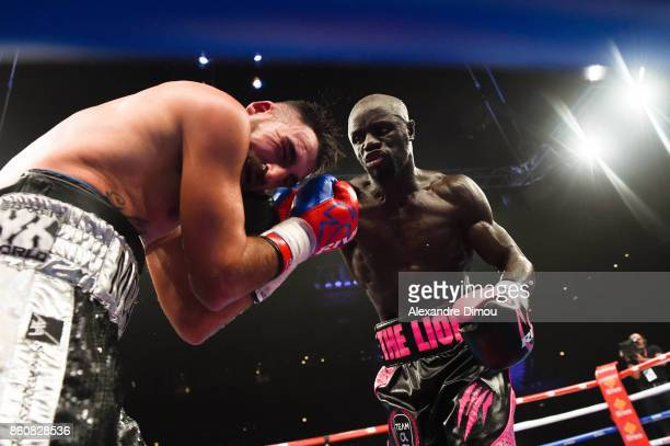 Yvan Mendy and Florian Montels during the Boxitanie Event on October 12 2017 in Montpellier France