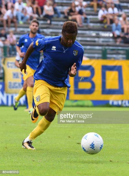 Yves Baraye of Parma Calcio in action during the preseason friendly match between Parma Calcio and Dro on July 30 2017 in Pinzolo near Trento Italy