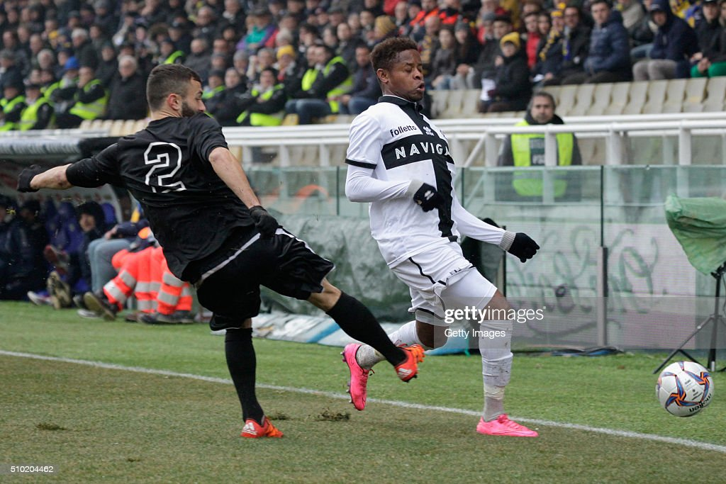 Yves Baraye of Parma in action during the Serie D match between Parma Calcio 1913 and Ribelle at Stadio Ennio Tardini on February 14, 2016 in Parma, Italy.