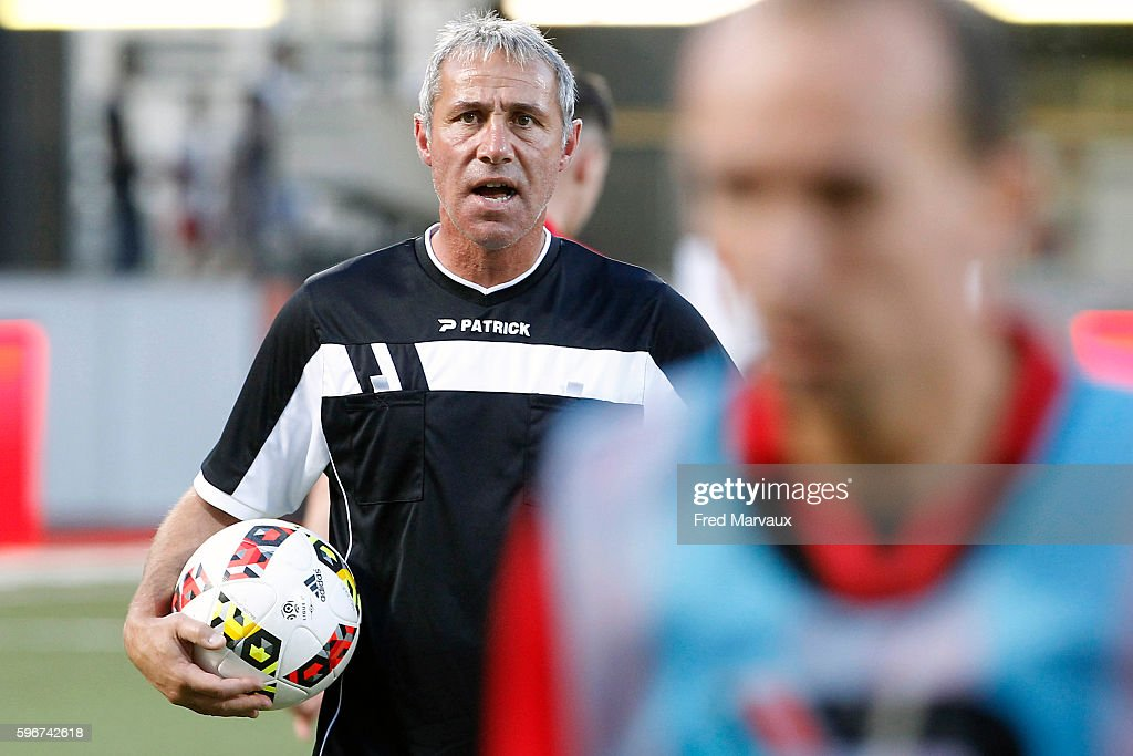 Yves Bertucci coach assistant of Guingamp during the French Ligue 1 between Nancy and Guingamp at Stade Marcel Picot on August 27 2016 in Nancy France