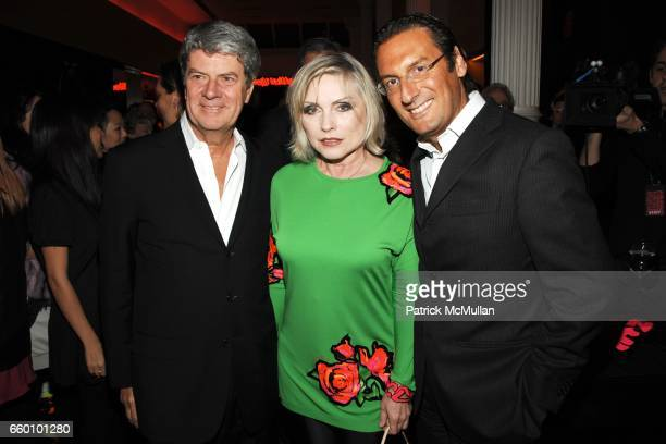 Yves Carcelle Debbie Harry and Pietro Beccari attend LOUIS VUITTON Tribute to STEPHEN SPROUSE VIP Cocktail Party at Louis Vuitton on January 8 2009...