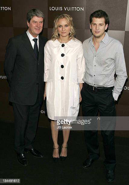 Yves Carcelle Diane Kruger and Guillaume Canet during Louis Vuitton ChampsElysées Flagship Store Opening Party at Louis Vuitton Store ChampsElysées...