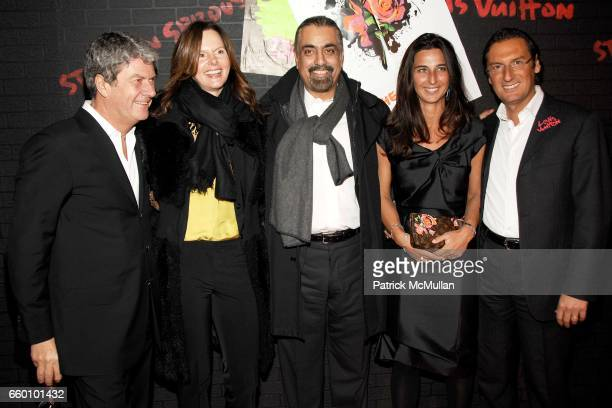 Yves Carcelle Inga Singh Harmeet Singh Elisabetta Beccari and Pietro Beccari attend LOUIS VUITTON Tribute to STEPHEN SPROUSE VIP Cocktail Party at...