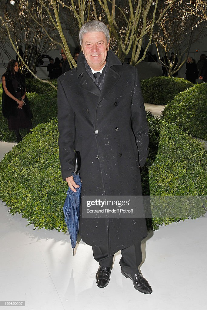 <a gi-track='captionPersonalityLinkClicked' href=/galleries/search?phrase=Yves+Carcelle&family=editorial&specificpeople=224753 ng-click='$event.stopPropagation()'>Yves Carcelle</a>, Vice-President of the Louis Vuitton Corporate Foundation for Creation , and member of the LVMH Executive Committee, attends the Christian Dior Spring/Summer 2013 Haute-Couture show as part of Paris Fashion Week at on January 21, 2013 in Paris, France.