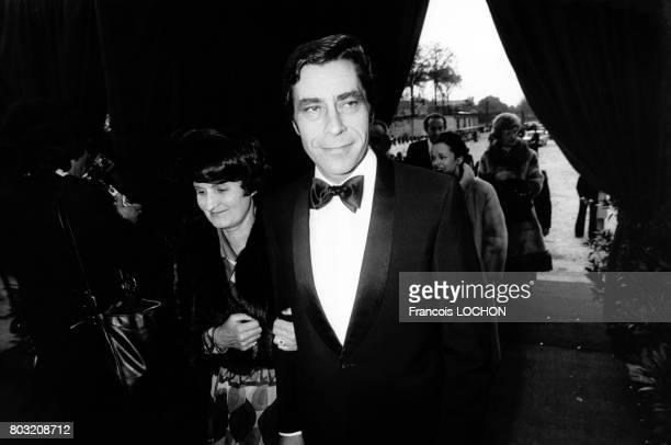 Yves Guéna et son épouse invités aux spectacles des cirques Jean Richard et Bouglione le 27 avril 1976 à Paris France
