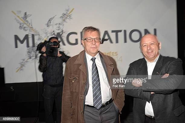 Yves Lapierre and Chef Thierry Marx attend the 'Trophees INPI de L'Innovation 2014' At Parc Andre Citroen on December 2 2014 in Paris France