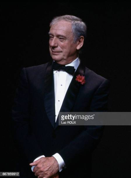 Yves Montand during the 1987 Cannes Film Festival where he is the president of the jury