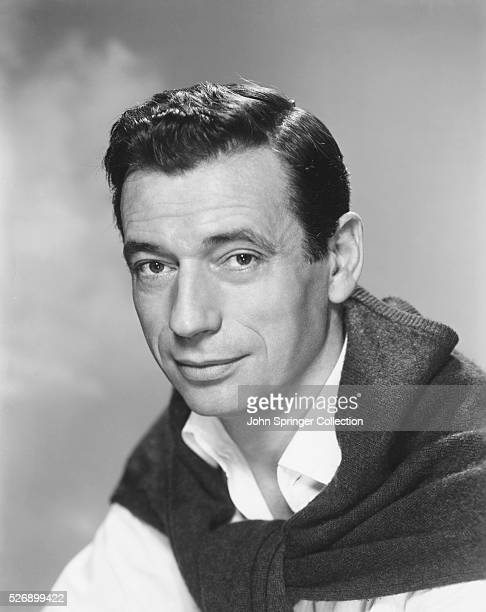 Yves Montand French actorsinger in films from the midforties Undated photograph
