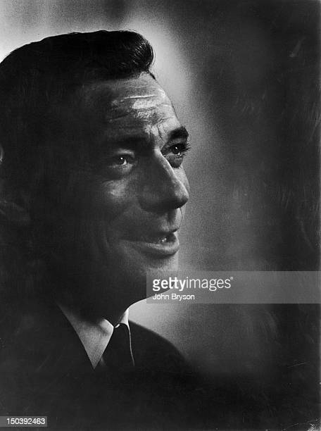 Yves Montand portrait during filming of 'Lets Make Love' 1960