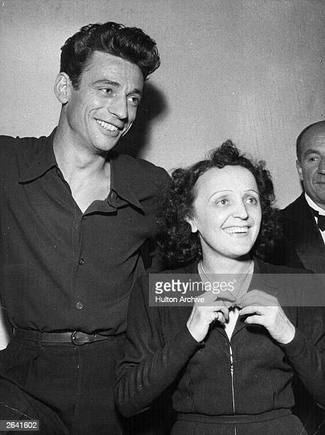Yves Montand the French singer and actor with Edith Piaf the legendary French chanteuse