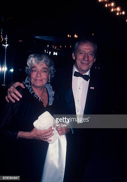 Yves Montand with his wife Simone Signoret at the Paris Opera House for ''Paris is Burning'' circa 1970 New York