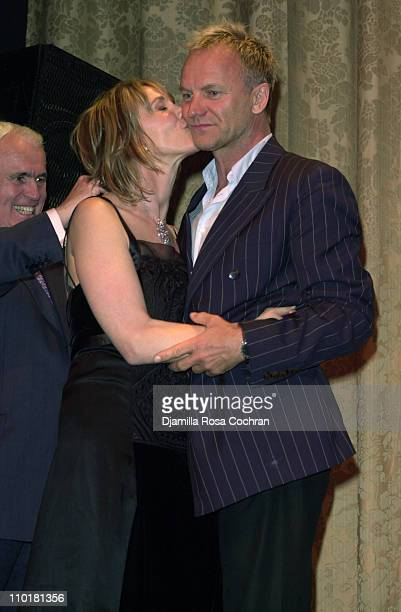 Yves Piaget Sting and Trudie Styler during Tru Gems Rainforest Us Benefit Sponsored By Piaget To Honor Trudie Styler at Manhattan Center in New York...