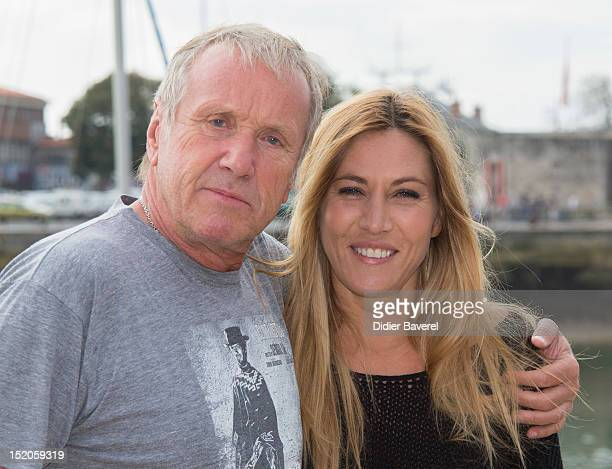 Yves Renier and Mathilde Seigner pose during the 'Medecin chef de la sante' Photocall at La Rochelle Fiction Television Festival on September 14 2012...