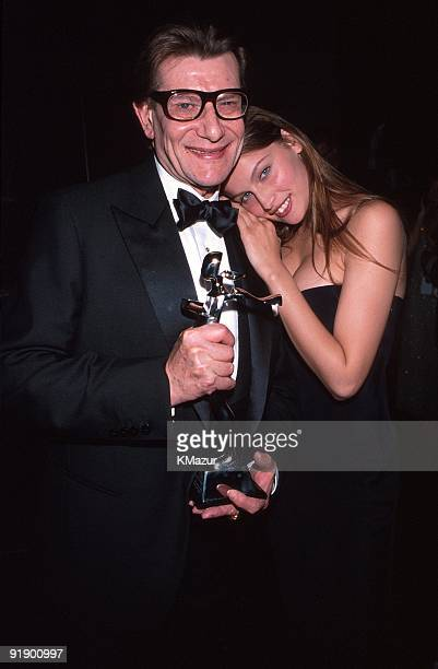 Yves Saint Laurent and Laetitia Casta
