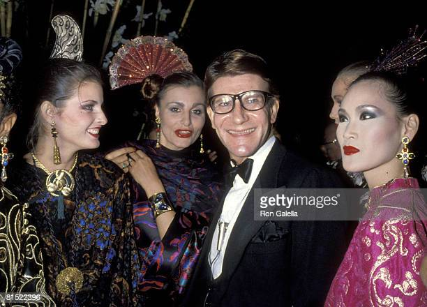 Yves Saint Laurent and models