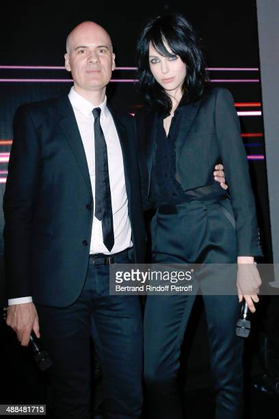 CEO Yves Saint Laurent Beaute Stephan Bezy and Yves Saint Laurent new muse Edie Campbell attend the Cocktail for the discovery of new fragrance...