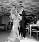 Yves Saint Laurent French couturier and Tessa Beaumont dancer at Dior's September 1959 LIP10462005