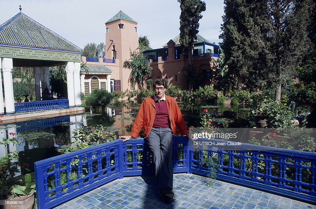 yves saint laurent in his palace in marrakech chaque hiver yves pictures getty images. Black Bedroom Furniture Sets. Home Design Ideas