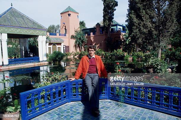Yves Saint Laurent In His Palace In Marrakech Chaque hiver Yves SAINT LAURENT retrouve les terrasses de la villa Oasis son palais de MARRAKECH qu'il...