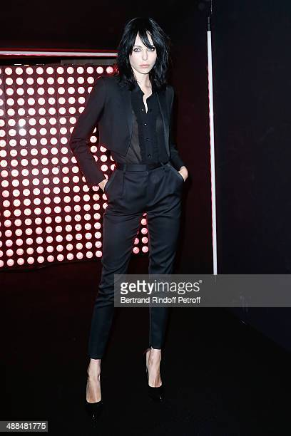 Yves Saint Laurent new muse Edie Campbell attends the Cocktail for the discovery of new fragrance 'Black Opium' by Yves Saint Laurent on May 6 2014...