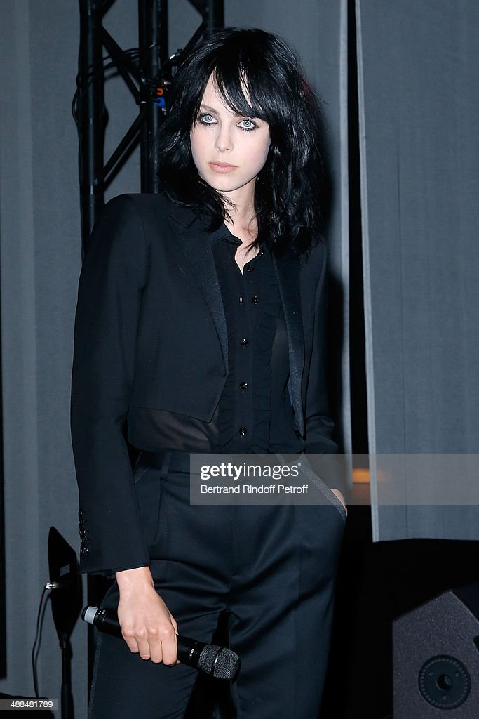 Yves Saint Laurent new muse Edie Campbell attends the Cocktail for the discovery of new fragrance 'Black Opium' by Yves Saint Laurent on May 6, 2014 in Paris, France..