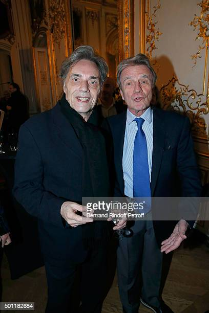 Yves Simon and Bernard Kouchner at Laurence Haim Is Honoured With The Insignes De Chevalier De La Legion D'Honneur at Salons FranceAmeriques on...