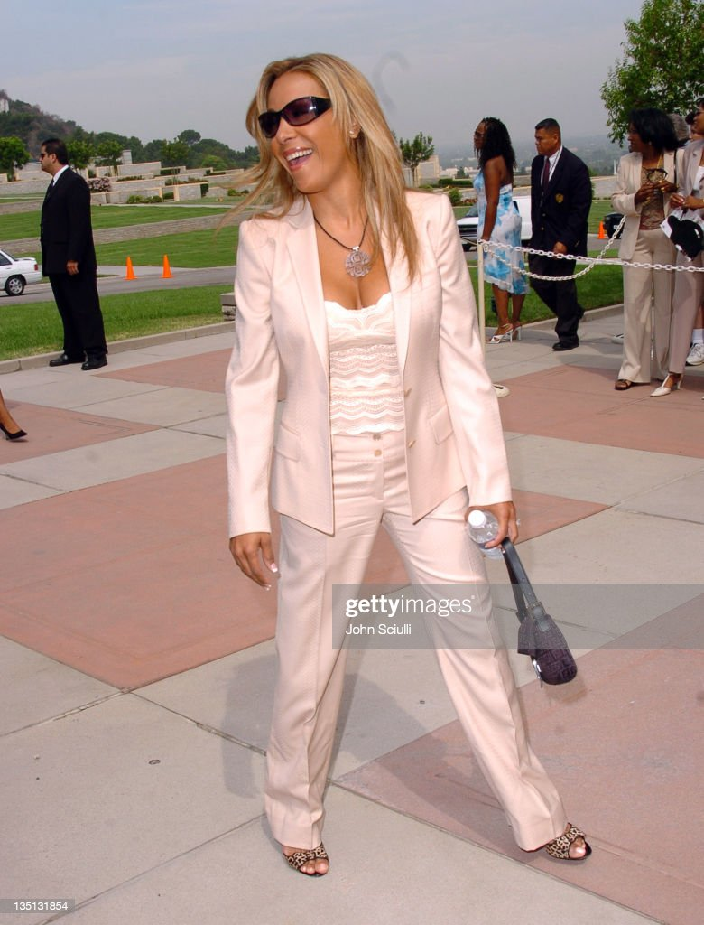 Yvette Barlow of the Mary Jane Girls during A Celebration of the Life of Rick James - Arrivals at Forest Lawn in Burbank, California, United States.