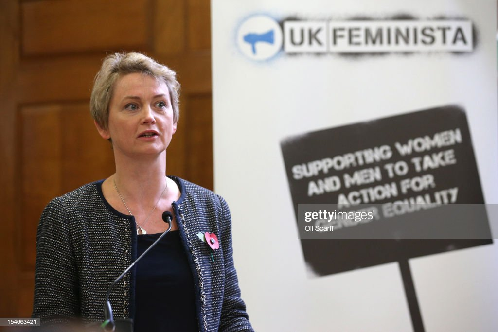 <a gi-track='captionPersonalityLinkClicked' href=/galleries/search?phrase=Yvette+Cooper&family=editorial&specificpeople=2486558 ng-click='$event.stopPropagation()'>Yvette Cooper</a> MP speaks at a rally organised by UK Feminista to call for equal rights for men and women on October 24, 2012 in London, England. Hundreds of women, some dressed as suffragettes, attended a rally organised by UK Feminista and congregated in Westminster to lobby their local MPs to demonstrate against any legislation that damages women's rights.