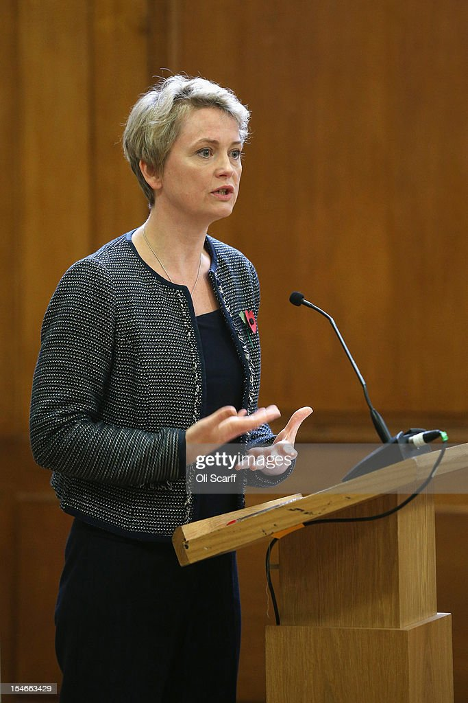 Yvette Cooper MP speaks at a rally organised by UK Feminista to call for equal rights for men and women on October 24, 2012 in London, England. Hundreds of women, some dressed as suffragettes, attended a rally organised by UK Feminista and congregated in Westminster to lobby their local MPs to demonstrate against any legislation that damages women's rights.