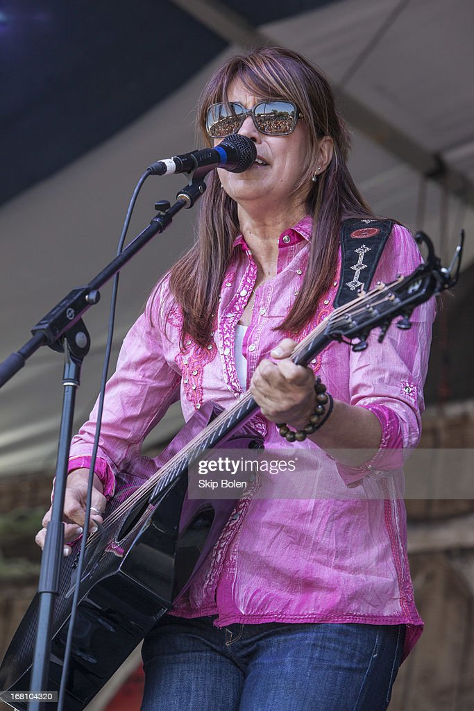 Yvette Landry performs during the 2013 New Orleans Jazz & Heritage Music Festival at Fair Grounds Race Course on May 4, 2013 in New Orleans, Louisiana.