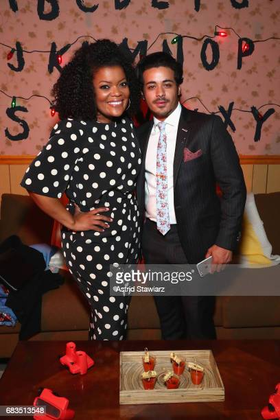 Yvette Nicole Brown and Christian Navarro attend the Entertainment Weekly and PEOPLE Upfronts party presented by Netflix and Terra Chips at Second...