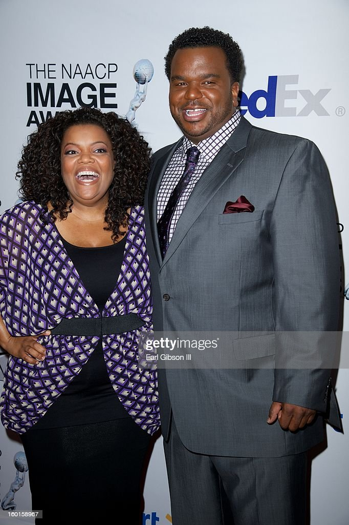 Yvette Nicole Brown and Craig Robinson attend the NAACP Image Awards Nominee's Luncheon at Montage Beverly Hills on January 26, 2013 in Beverly Hills, California.