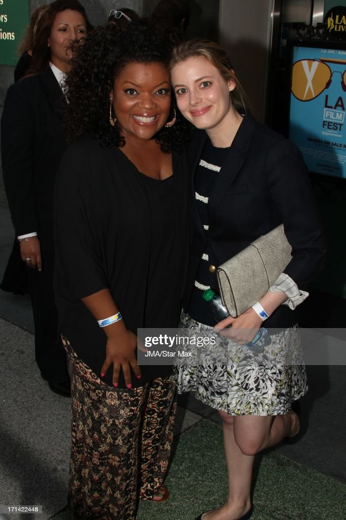 <a gi-track='captionPersonalityLinkClicked' href=/galleries/search?phrase=Yvette+Nicole+Brown&family=editorial&specificpeople=4420097 ng-click='$event.stopPropagation()'>Yvette Nicole Brown</a> and <a gi-track='captionPersonalityLinkClicked' href=/galleries/search?phrase=Gillian+Jacobs&family=editorial&specificpeople=4836757 ng-click='$event.stopPropagation()'>Gillian Jacobs</a> as seen on June 23, 2013 in Los Angeles, California.