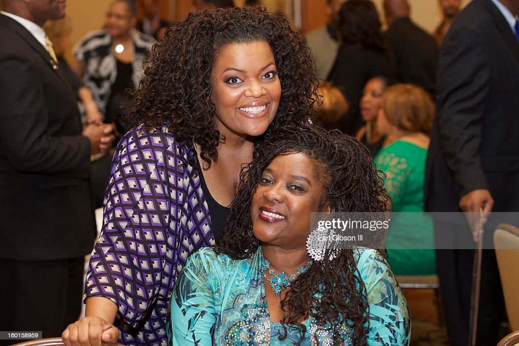 Yvette Nicole Brown and Loretta Devine at the NAACP Image Awards Nominee's Luncheon at Montage Beverly Hills on January 26, 2013 in Beverly Hills, California.