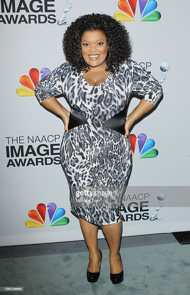 Yvette Nicole Brown arrives at the 44th NAACP Image Awards nominations announcement held at The Paley Center for Media on December 11, 2012 in Beverly Hills, California.