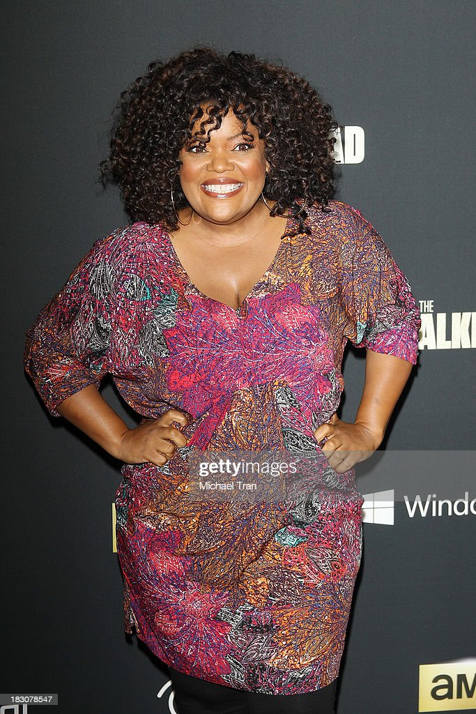 Yvette Nicole Brown arrives at the Los Angeles premiere of AMC's 'The Walking Dead' 4th season held at Universal CityWalk on October 3, 2013 in Universal City, California.