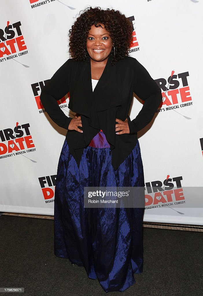<a gi-track='captionPersonalityLinkClicked' href=/galleries/search?phrase=Yvette+Nicole+Brown&family=editorial&specificpeople=4420097 ng-click='$event.stopPropagation()'>Yvette Nicole Brown</a> attends 'First Date' Broadway Opening Night at Longacre Theatre on August 8, 2013 in New York City.