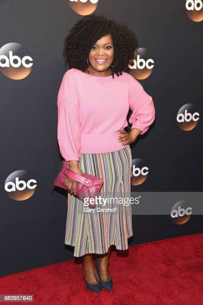 Yvette Nicole Brown bag detail attends the 2017 ABC Upfront event on May 16 2017 in New York City